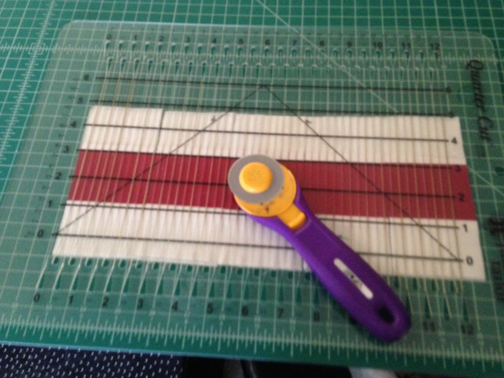 Cutting strips using my Quarter Cut